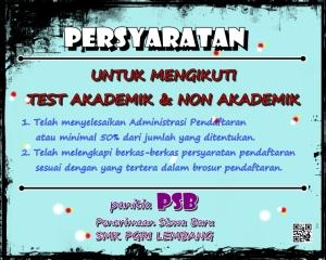 PERSYARATAN TEST